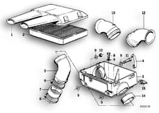 Goto diagram: BMW Classic Motorbike Model R 100 RS( ECE ), Category 13.20 AIR CLEANER HOUSING :: Diagram: 13_0460