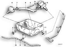 Goto diagram: BMW Classic Motorbike Model R 100 R Mystik 94( USA ), Category 13.20 SECONDARY AIR SYSTEM :: Diagram: 13_0461