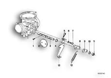 Goto diagram: BMW Classic Motorbike Model R 80, R 80 /7( ECE ), Category 13.05 CARBURETOR/THROTTLE CONTROL :: Diagram: 13_0474
