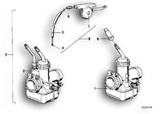 Goto diagram: BMW Classic Motorbike Model R60/6( USA ), Category 13.05 Carburettor :: Diagram: 13_0484