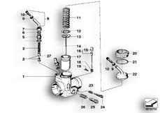 Goto diagram: BMW Classic Motorbike Model R60/6( USA ), Category 13.05 CARBURETOR-PISTON/ADJUSTER/TRIGGER :: Diagram: 13_0486