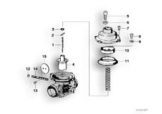Goto diagram: BMW Classic Motorbike Model R75/5( ECE ), Category 13.05 CARBURETOR-PISTON/NOZZLE NEEDLE :: Diagram: 13_0495