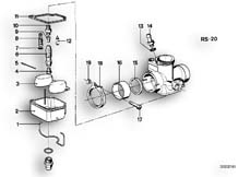 Goto diagram: BMW Classic Motorbike Model R 60 /7( ECE ), Category 13.05 CARBURETOR-FLOAT ASSY/JET :: Diagram: 13_0503
