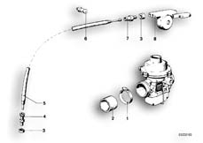Goto diagram: BMW Classic Motorbike Model R 100 S( ECE ), Category 13.05 CARBURETOR-CHOKE CABLE :: Diagram: 13_0505