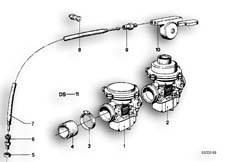 Goto diagram: BMW Classic Motorbike Model R 80, R 80 /7( ECE ), Category 13.05 Carburettor :: Diagram: 13_0511