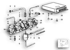 Goto diagram: BMW Classic Motorbike Model K 100 RS 83 (0502,0503,0513)( ECE ), Category 13.15 THROTTLE HOUSING ASSY/CONTROL UNIT :: Diagram: 13_0515