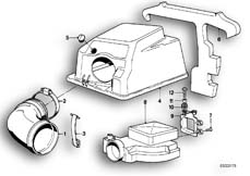 Goto diagram: BMW Classic Motorbike Model K 100 RS 83 (0502,0503,0513)( ECE ), Category 13.20 TOP AIR CLEANER HOUSING/AIR-FLOW SENSOR :: Diagram: 13_0517