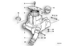 Goto diagram: BMW Classic Motorbike Model R 1100 GS 94 (0404,0409)( USA ), Category 13.71 Intake silencer / Filter cartridge :: Diagram: 13_0525