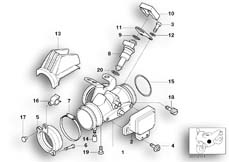 Goto diagram: BMW Classic Motorbike Model R 1100 GS 94 (0404,0409)( USA ), Category 13.54 Throttle housing Assy :: Diagram: 13_0527
