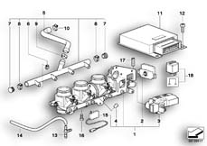 Goto diagram: BMW Classic Motorbike Model K 1200 GT 01 (0548,0558)( USA ), Category 13.61 THROTTLE HOUSING ASSY/CONTROL UNIT :: Diagram: 13_0542