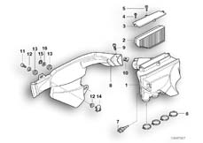 Goto diagram: BMW Classic Motorbike Model K 1200 GT 01 (0548,0558)( USA ), Category 13.71 Intake silencer / Filter cartridge :: Diagram: 13_0543