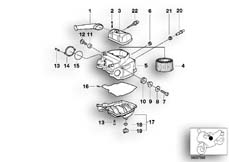 Goto diagram: BMW Classic Motorbike Model R 1200 C Indep. 03 (0362,0391)( USA ), Category 13.71 Intake silencer / Filter cartridge :: Diagram: 13_0618