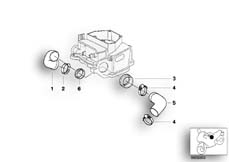 Goto diagram: BMW Classic Motorbike Model R 1200 C Indep. 00 (0405,0433)( ECE ), Category 13.71 AIR INTAKE TUBES :: Diagram: 13_0620
