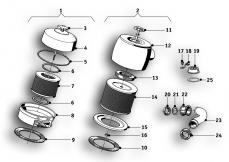 Goto diagram: BMW Classic Motorbike Model R69 S( ECE ), Category 13.20 AIR CLEANER :: Diagram: 13_0826