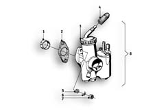 Goto diagram: BMW Classic Motorbike Model R69 S( ECE ), Category 13.05 Carburettor :: Diagram: 13_0827