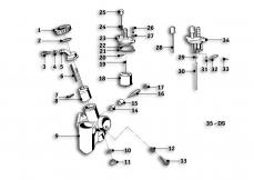 Goto diagram: BMW Classic Motorrad Modell R69 S( ECE ), Category 13.05 Carburettor :: Diagram: 13_0829