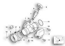 Goto diagram: BMW Classic Motorbike Model R 1150 GS Adv. 01 (0441,0492)( USA ), Category 13.54 Throttle housing Assy :: Diagram: 13_0840
