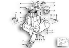 Goto diagram: BMW Classic Motorbike Model R 1150 GS Adv. 01 (0441,0492)( USA ), Category 13.71 Intake silencer / Filter cartridge :: Diagram: 13_0842