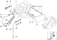 Goto diagram: BMW Classic Motorrad Modell C1 (0191)( ECE ), Category 13.71 Intake silencer, mounting parts :: Diagram: 13_0880