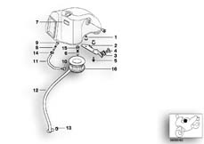 Goto diagram: BMW Classic Motorbike Model G 650 GS 09 (0178,0179)( ECE ), Category 13.71 Intake silencer, mounting parts :: Diagram: 13_0893