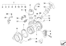 Goto diagram: BMW Classic Motorrad Modell R 900 RT 05 SF (0367,0387)( ECE ), Category 13.54 Throttle housing Assy :: Diagram: 13_1116