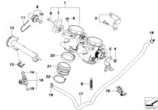 Goto diagram: BMW Classic Motorrad Modell F 800 GS Adve. (0B05, 0B15)( ECE ), Category 13.54 Throttle housing Assy :: Diagram: 13_1177