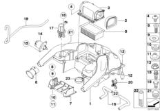 Goto diagram: BMW Classic Motorrad Modell F 800 GS Adve. (0B05, 0B15)( ECE ), Category 13.71 Intake sound system :: Diagram: 13_1249