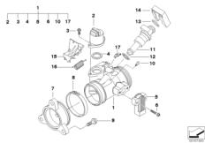Goto diagram: BMW Classic Motorrad Modell HP2 Sport (0458, 0468)( ECE ), Category 13.54 Throttle housing Assy :: Diagram: 13_1258