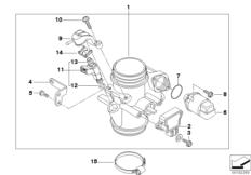 Goto diagram: BMW Classic Motorbike Model G 650 GS 09 (0178,0179)( ECE ), Category 13.54 Throttle housing Assy :: Diagram: 13_1310