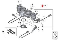 Goto diagram: BMW Classic Motorbike Model S 1000 RR 10 (0507,0517)( ECE ), Category 13.54 Throttle housing Assy :: Diagram: 13_1346