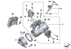 Goto diagram: BMW Classic Motorbike Model R nineT Racer (0J21, 0J23)( USA ), Category 13.54 Throttle housing Assy :: Diagram: 13_1391