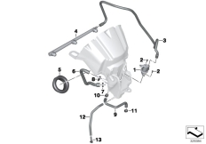 Goto diagram: BMW Classic Motorbike Model K 1600 Bagger (0F51, 0F53)( USA ), Category 13.71 Intake noise system / mounting parts :: Diagram: 13_1393