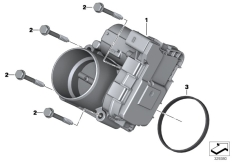 Goto diagram: BMW Classic Motorbike Model K 1600 Bagger (0F51, 0F53)( USA ), Category 13.54 Throttle housing Assy :: Diagram: 13_1394