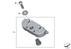 Goto diagram: BMW Classic Motorrad Modell F 700 GS 17 (0B26)( BRA ), Category 13.61 Bracket, control unit :: Diagram: 13_1409