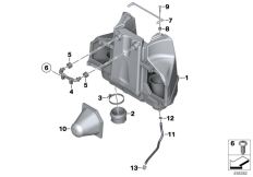 Goto diagram: BMW Classic Motorrad Modell K 1300 GT (0538,0539)( USA ), Category 13.71 Intake silencer / Filter cartridge :: Diagram: 13_1413