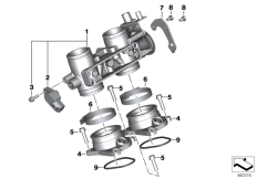 Goto diagram: BMW Classic Motorrad Modell C 650 Sport 16 (0C04, 0C14)( USA ), Category 13.54 Throttle valve and operation :: Diagram: 13_1490