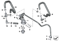 Goto diagram: BMW Classic Motorbike Model R nineT (0A06, 0A16)( USA ), Category 13.53 Injector nozzles and lines :: Diagram: 13_1516