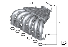 Goto diagram: BMW Classic Motorbike Model K 1600 GTL 17 (0F02, 0F12)( USA ), Category 13.71 Intake manifold system :: Diagram: 13_1531