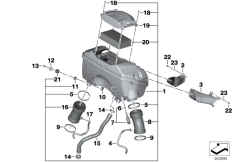 Goto diagram: BMW Classic Motorrad Modell R 1200 R (0A04, 0A14)( ECE ), Category 13.71 Intake silencer / Filter cartridge :: Diagram: 13_1574