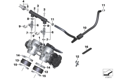 Goto diagram: BMW Classic Motorrad Modell F 700 GS 17 (0B06, 0B16)( USA ), Category 13.54 Throttle housing Assy :: Diagram: 13_1871