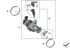 Goto diagram: BMW Classic Motorrad Modell G 310 GS (0G22)( BRA ), Category 13.54 Throttle housing Assy :: Diagram: 13_1873