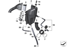 Goto diagram: BMW Classic Motorrad Modell G 310 GS (0G02, 0G12)( USA ), Category 13.71 Intake silencer / Filter cartridge :: Diagram: 13_1890