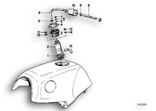 Goto diagram: BMW Classic Motorbike Model K 100 RS 83 (0502,0503,0513)( ECE ), Category 16.05 FUEL PUMP/FUEL FILTER :: Diagram: 16S0243