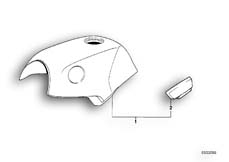 Goto diagram: BMW Classic Motorbike Model K 100 RS 83 (0502,0503,0513)( ECE ), Category 16.05 FUEL TANK/KNEE PADDING :: Diagram: 16S0244
