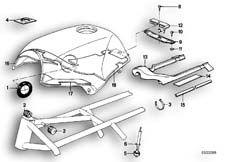 Goto diagram: BMW Classic Motorbike Model K 100 RS 83 (0502,0503,0513)( ECE ), Category 16.05 FUEL TANK/ATTACHING PARTS :: Diagram: 16_0238