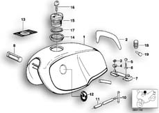 Goto diagram: BMW Classic Motorbike Model R 80 RT( USA ), Category 16.03 Fuel tank :: Diagram: 16_0239