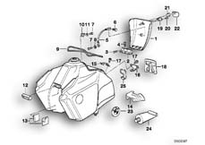 Goto diagram: BMW Classic Motorbike Model R 100 GS PD( ECE ), Category 16.05 FUEL TANK MOUNTING PARTS PD :: Diagram: 16_0248