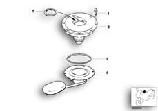 Goto diagram: BMW Classic Motorbike Model R 1100 GS 94 (0404,0409)( USA ), Category 16.11 Filler cap :: Diagram: 16_0257