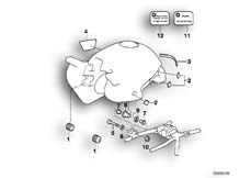 Goto diagram: BMW Classic Motorbike Model R 1100 GS 94 (0404,0409)( USA ), Category 16.11 FUEL TANK/ATTACHING PARTS :: Diagram: 16_0260