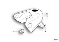 Goto diagram: BMW Classic Motorbike Model F 650 ST 97 (0163,0168)( USA ), Category 16.11 FUEL TANK TRIM PANEL :: Diagram: 16_0265